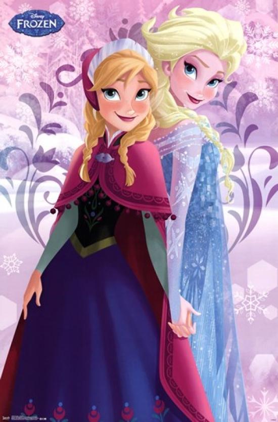 frozen sisters anna elsa poster print item vartiarp13574 posterazzi